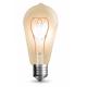 Lampadina  LED 5W Filamento curvo