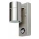 Applique da esterno per muro per lampadina GU10 (MAX 20W) con sensore