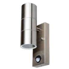 Applique da esterno per muro per lampadina 2xGU10 con sensore (MAX 20W)